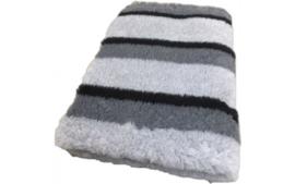 Vet Bed Stripes Grijs Zwart Fijn Latex Anti Slip