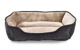 Topmast Hondenmand Pluche 61 x 48 cm Antraciet - Beige