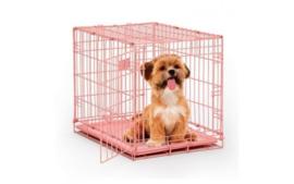 Hondenbench Roze gecoat
