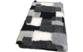Vet Bed Patchwork Zwart Grijs Antraciet Wit - latex anti-slip