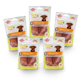 Truly Chicken Filet Multipack hondensnack - 5 zakjes van 90 gram