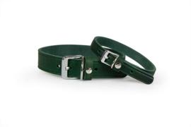 Das Lederband Halsband Weinheim, Hunting green