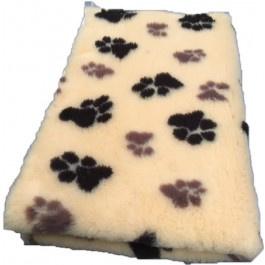 Vet Bed Lichtgeel Bruin Zwart voetprint- latex anti-slip