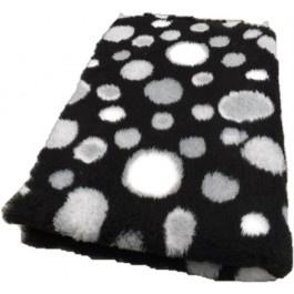 Vet Bed Circles Zwart Grijs Wit - latex anti-slip