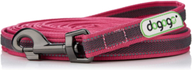 Dogogo antislip riem met handvat 14mm breedte, pink