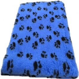 Vet Bed Kobaltblauw met Zwarte Voetprint Latex Anti Slip