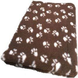 Vet Bed Bruin met Witte Voetprint Latex Anti Slip