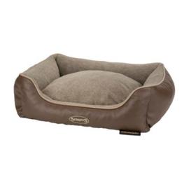 Scruffs Chateau Memory Foam Box Bed Latte Bruin