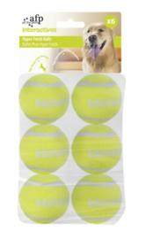 AFP Interactive Hyper Fetch Super Bounce Tennis Balls 6 stuks