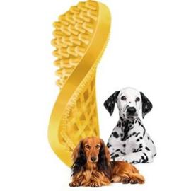 Pet+Me Hond Korte haren Borstel Geel