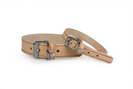 Das Lederband Halsband Weinheim,  Naturel