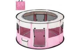 Topmast Nylon Puppyren Rond | Roze