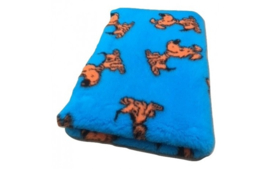 Vet Bed Lucky Dog Turquoise - latex anti-slip
