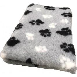 Vet Bed Grijs Zwart Wit voetprint- latex anti-slip