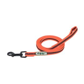 Dogogo antislip riem met handvat 14mm breedte, oranje