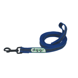 Dogogo antislip riem met handvat 20mm breedte, blauw