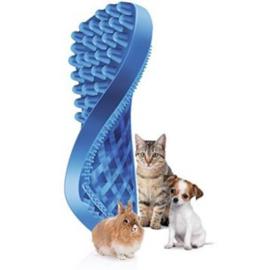 Pet+Me Kat Korte haren Borstel Blauw