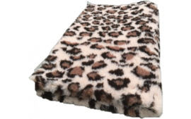 Vet Bed Luipaard Bruin Creme Latex Anti Slip