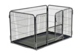 Topmast Puppyren Premium 125 x 80 x 70 cm Hoog  + extra onderdeurtje