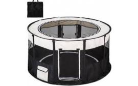 Topmast Nylon Puppyren Rond | Zwart 120cm