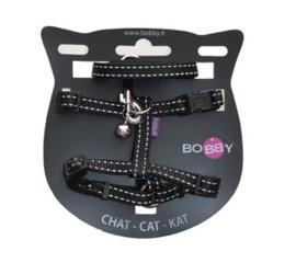 Kattenharnas met riem Safe Zwart
