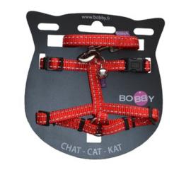 Kattenharnas met riem Safe Rood