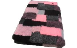 Vet Bed Patchwork & Roze Grijs Zwart - latex anti-slip