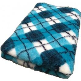 Vet Bed Diamond Ruit- Turquoise Blauw Wit - latex anti-slip