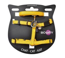 Kattenharnas met riem Safe Geel