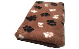 Vet Bed Bruin Zwart Wit voetprint- latex anti-slip