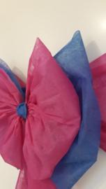 Gender reveal deurstrik in roze en blauw PAPIERACHTIG materiaal