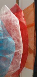 Deurstrik in FIBER in rood wit blauw oranje