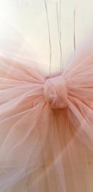 Deurstrik van TULE in blush roze