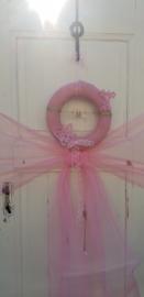 Roze geboortekrans