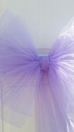 Deurstrik in lila tule