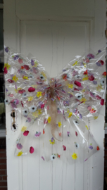 Transparante bloemetjesstrik