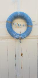 Geboortekrans in blauw