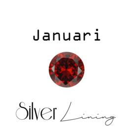 Januari Granaat (donkerrood)