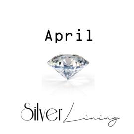 April Bergkristal ( transparant )