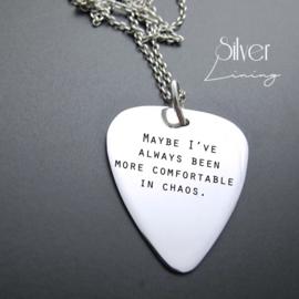 Zilveren Plectrum met jouw songtekst