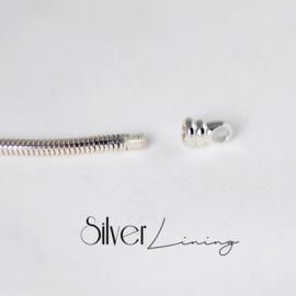 Massief zilveren slangenarmband voor moedermelkkraal