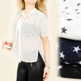 Mooie blouse met kleine sterretjes