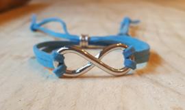 Blauw veter infinity armband