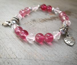 Kralen Armband roze