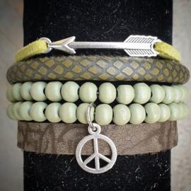 Combinatie armband groen
