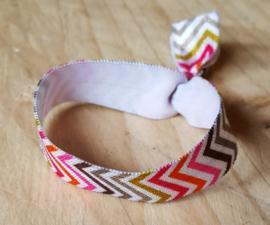 Stoffen elastieke haar of armband