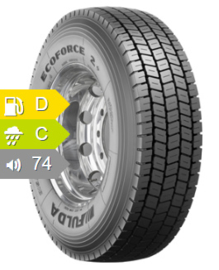 Fulda Ecoforce 2+ 315/80R22.5 156L154M TL 3PSF