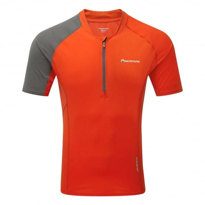 Montane Fang Zip T-Shirt Flag Red mn