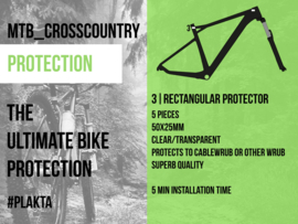 RECTANGULAR FRAME PATCH / Rechthoekige frame protector