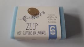 100 gram zeep met olijfolie en lavendel (papieren wikkel)